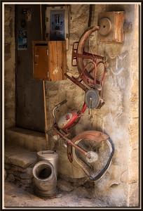 Stillleben mit altem Fahrrad